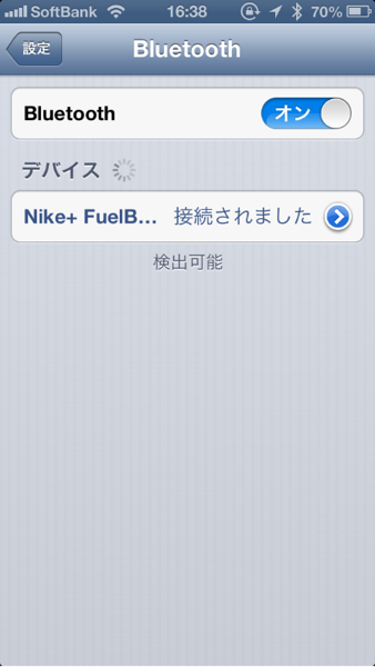 iPhoneと接続! - Nile+ FuelBand