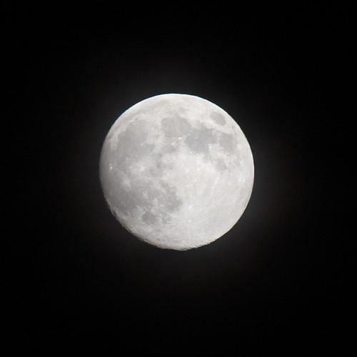 満月の前日に撮影 - デジイチで満月を撮影