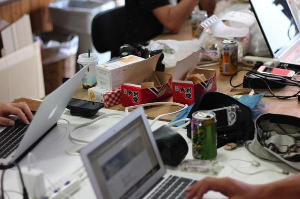 テーブルの上 - 市川Blog合宿