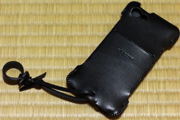 ブラックレザー - iPhone 5s用abicase
