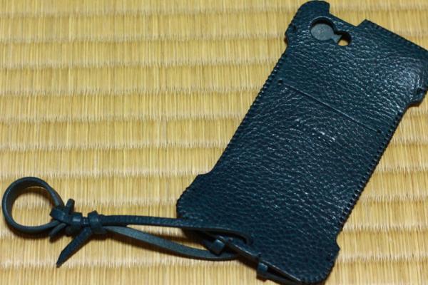 バケッタレザー紺 - iPhone 5s用abicase
