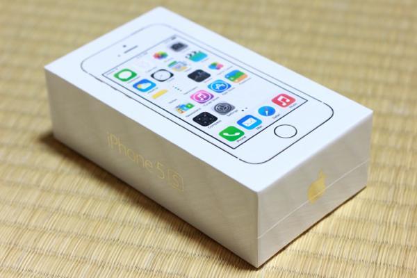 開封! - iPhone 5s無事手元に届きました! / 付属の新品SIMを使用中