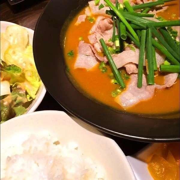 豚しゃぶかれースープ - かれー麺実之和 - カレーとラーメンが好きなら1度は食べた方が良い!