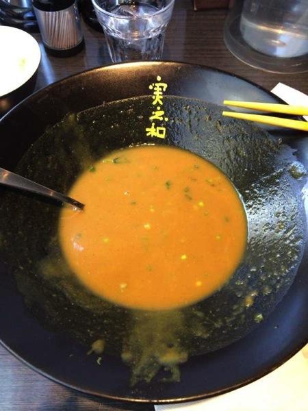 麺完食! - かれー麺実之和 - カレーとラーメンが好きなら1度は食べた方が良い!