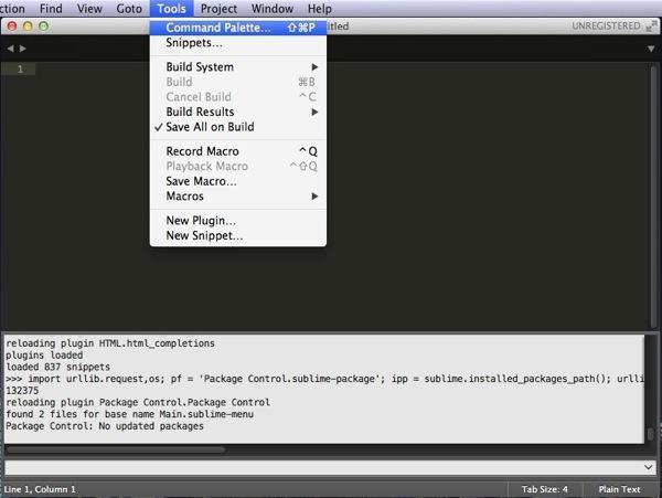 コマンドレット表示 - Sublime Text 3を再インストール!
