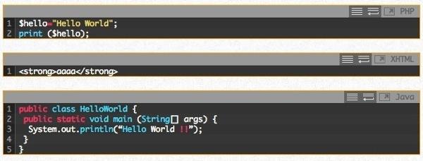 実際の表示 - Crayon Syntax Highlighterを導入