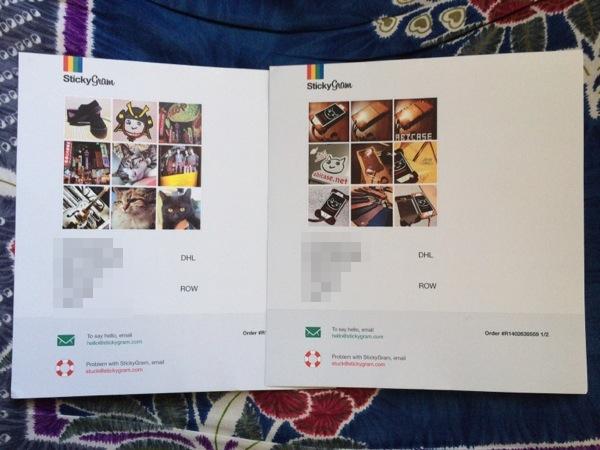 同封されていた紙 - StickyGramで注文したマグネットが届いたよ!