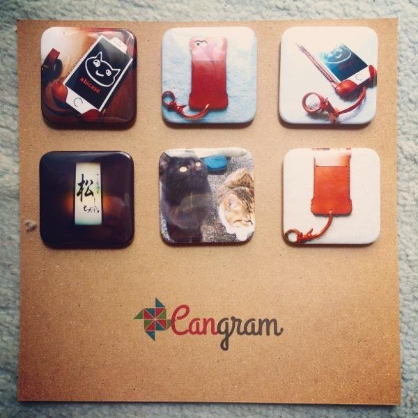 Cangramでabicaseと猫、そして松ちゃんの缶バッチを作ってみた / Instagramの写真使って缶バッチが作れちゃう!