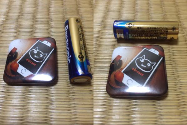 Cangramの缶バッチのサイズ感 - Cangramでabicaseと猫、そして松ちゃんの缶バッチを作ってみた / Instagramの写真使って缶バッチが作れちゃう!