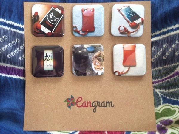 Cangramで作った缶バッチ - Cangramでabicaseと猫、そして松ちゃんの缶バッチを作ってみた / Instagramの写真使って缶バッチが作れちゃう!