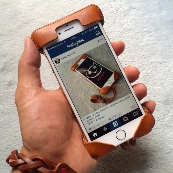 前面 - iPhone6届きabicase装着したらフィット感抜群!手で握った時の安定感も更に良い!やっぱりabicase! #abicase