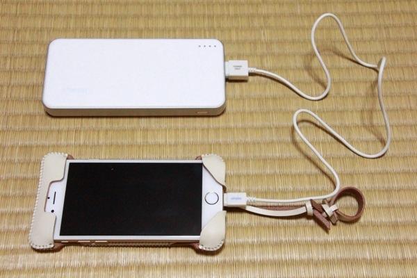 充電の準備完了 - ダイソーのiPhone5対応USB充電専用ケーブルでiPhone6の充電が本当に出来るのかやってみた!開封の儀付だよ!