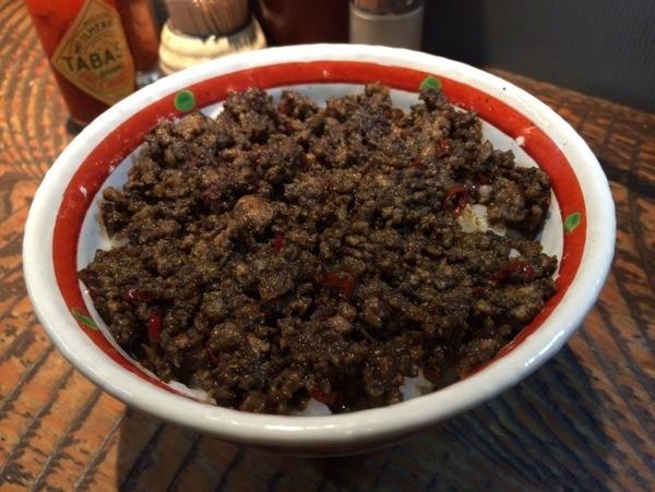 ドライカレー - 恵比寿『瞠(みはる)』の油そば食す!太麺・ボリューム多めな具で食べ応えあり!ドライカレーも美味かった!