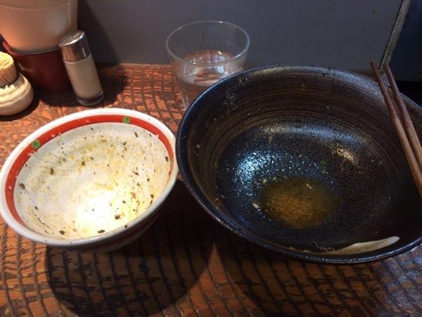 完食! - 恵比寿『瞠(みはる)』の油そば食す!太麺・ボリューム多めな具で食べ応えあり!ドライカレーも美味かった!