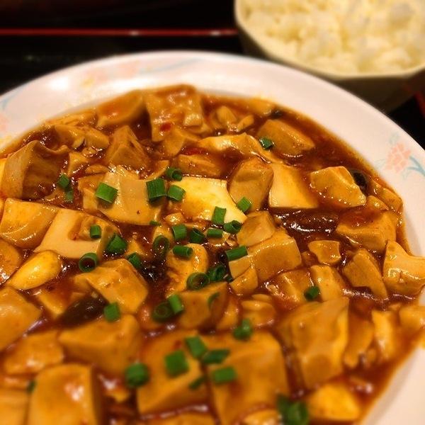 麻婆豆腐 - 美味しいランチのおかげで体重3kg増えただけで体が重く感じお腹回りが気になる今日この頃 / 体重戻すよ!