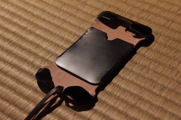 iPhone未装着 - abicase cawa cordoban 墨黒 / 希少部位のcordobanを使ったabicase / 本当に真っ黒 #abicase
