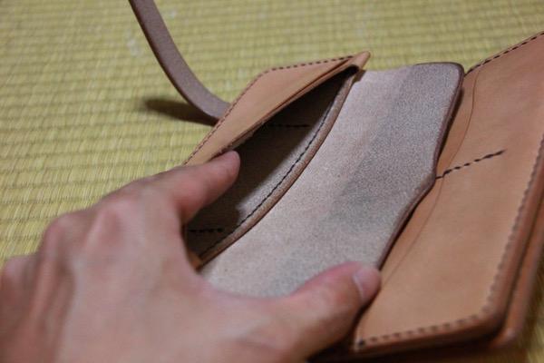小銭入れ - 1つ1つが職人による手作りの天神ワークスのレザーウォレットを受け取ってきた!/ レザーの厚み、1つ1つの縫い目、仕上がりに脱帽