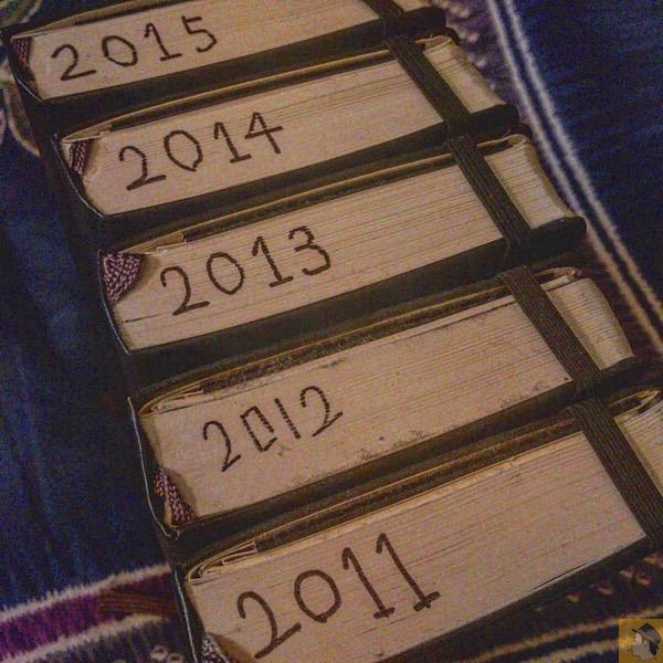 たわいない日記をアナログに5年続けていた事に気づいた / 続けることを意識してなかった5年[雑記]