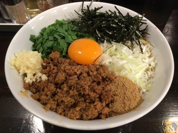 台湾まぜそば - ほうきぼし神田店で台湾まぜそばZを食す! / たまに無性に食べたくなるピリ辛な味が病みつき!ってか病みつきになる / 〆は半ライス