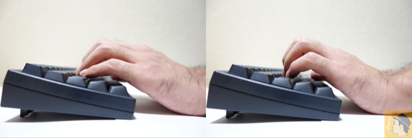 猫手での打鍵 - 親指シフトの同時打鍵のコツとは?物をつかむような動作を猫手のフォームですること