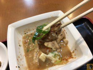 もつ煮込み - 松戸駅近くにある『ラーメン居酒屋 大都会』のもつ煮込み定食が値段以上の美味しさでコスパが良い!