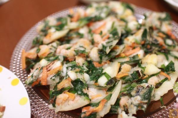 米粉で作る海鮮チヂミ - FiNCアプリのコンテンツをその場で体験出来たFiNCブロガーミートアップ / アプリキャンペーン情報有 #fincblogger