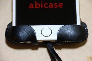 これまでのフラップ(下部) - abicase アビケースの進化は止まらない!(その1) フラップデザイン改善で画面操作時の干渉が無くなりスッキリ!